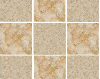 Pack of 10 cream stone effect mosaic tile stickers transfers, with added gloss affect, just peel and stick, bathroom kitchen