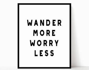 Adventure Printable - Wanderlust Sign - Modern Printable - Minimalist Poster - Minimalist Wall Art - Modern Decor - Modern Quote Art