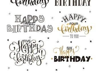 Happy Birthday Icing Sheet Edible Image, Birthday Cake Topper, Birthday Cupcake Cookie Topper