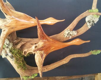 Large double duck wall mount sculpture