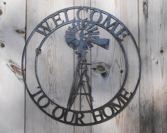 Windmill - welcome to our home wreath