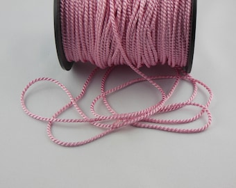 Soutache pink twisted cord