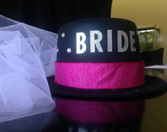 Bridal Party. Bachelorette Hat. Special Occasion. Customizable Party Hat.