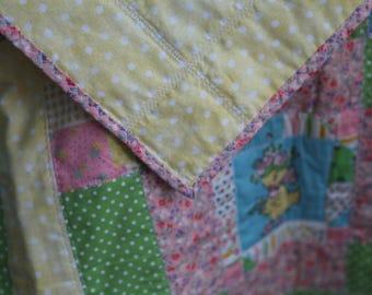 Buy Quilt get Bib Thru March 25th, Vintage Baby Quilt,Boy,Girl,Baby