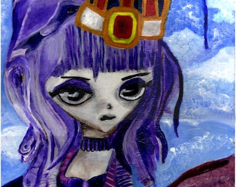 """A3 """"Print"""" of Acrylic Painting Little Person """"Francesca"""" by Treborre. Take Her Home Today"""