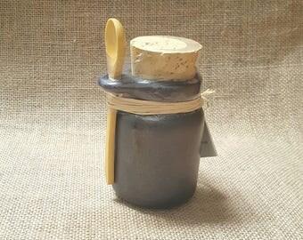 Handmade Ceramic Storage Jar - Black