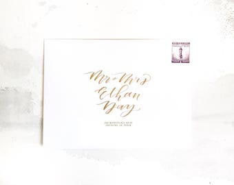 A7 Calligraphy Envelope Addressing