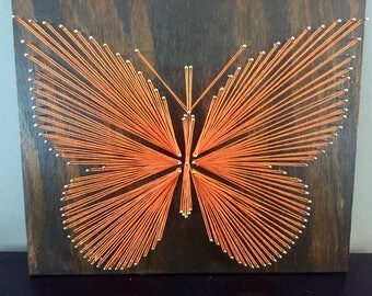 Butterfly and Caterpillar String Art