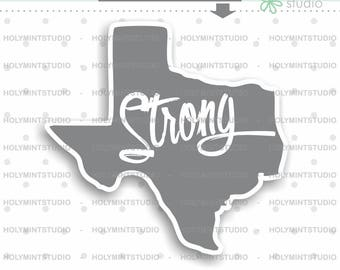 Texas Strong, Quote Stamps, Digital Stamp, Inspirational Quote Stamp, Planner Stamps, Stamps, File for Silhouette, File for Cricut, Texas