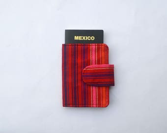 Red and Stripes Passport Holder