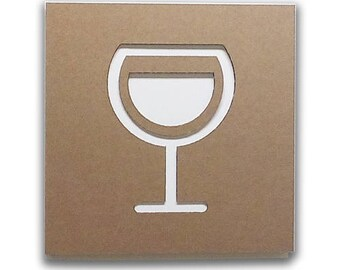 Wine - Cardboard furniture, food sign, sign in board, sign for kitchen, door sign, home sign, wall decor | Tropparoba - 100% made in Italy