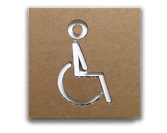 Accessible - Disabled restroom door sign, restroom sign, restroom decor, toilet sign, wc sign, wheelchair | Tropparoba - 100% made in Italy