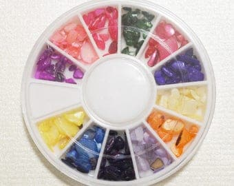 Color Power Stone 12 Colors Mini Size