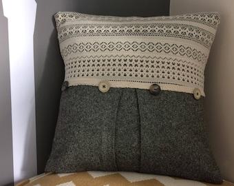 Handmade pleated cushion