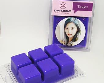 Tzuyu- Wax Melt- Wax Tart- Twice- Kpop- Scented Candle- Kpop Candle- Hallyu- Sana- Momo- Nayeon- Dahyun- Chaeyoung- Student Gift