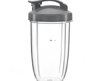 NutriBullet Blender 24OZ 24 Oz Ounce Medium Sized Cup with Flip Top replacement for Nutri Bullet System