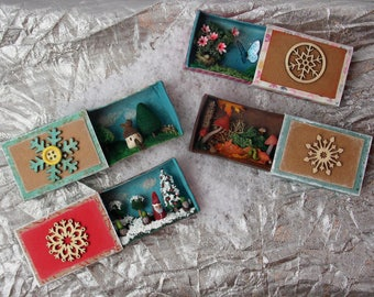 Boxes Matchbox miniature, diorama, advent calendar, original gift to be 10 euros.