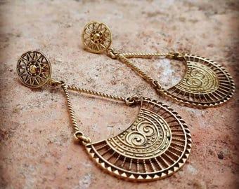Gypsy rajasthanie brass earrings, brass earrings, tribal earrings, ethnic earrings