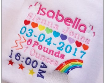 Personalised Baby Blanket, Fleece Blanket, Newborn Blanket, Baby Gift, Personalised Baby Gift, unicorn, Christening, Rainbow, BabyShower