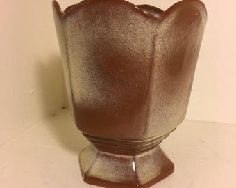 Frankoma Pottery Vase Planter Vase 65 Mid Century Modern