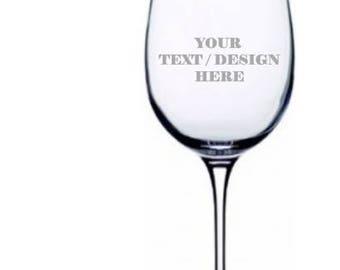 Custom Etched LARGE 20oz Wine Glass
