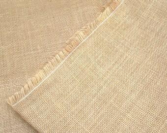2 m natural jute fabric, width 147cm
