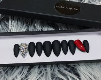 The LOUBOUTIN press on nails set • gel nails • press ons • fake nails • false nails • glue on nails • stick on nails • nails •