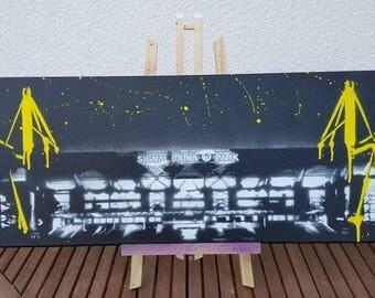 Graffiti art - Signal Iduna Park BVB - 100% spray - No. print