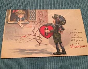 Antique Valentine's Day postcard.