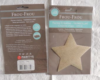 Fusible creative shape pattern star all that glitters gold glitter
