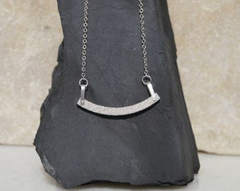 Silver trapeze necklace