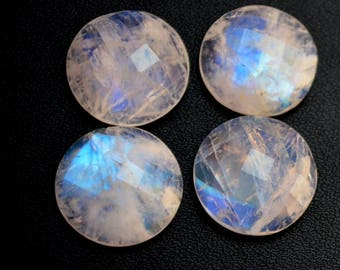 Natural rainbow moonstone  11 mm round rose cut loose gemstone