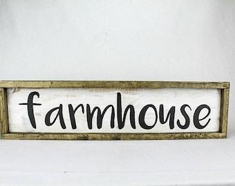 """27 1/2""""x7"""" framed farmhouse sign"""