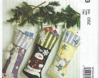 McCalls 7063 - Christmas Stockings