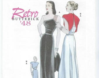 Butterick 5136 - MISSES Retro 1948 Dress and Jacket / Size 6, 8, 10, 12