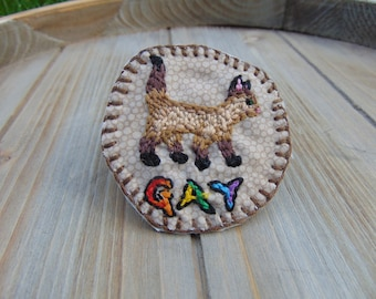 Gay! Cat Embroidered Patch