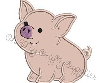 Pig Applique Design