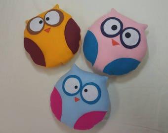 Felt Owl Stuffie, stuffed owl