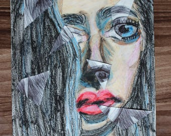 Abstract Art of Woman's Face