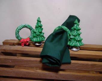 Christmas Tree Napkin Rings set of 2
