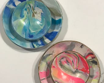 Custom Marbled Ring Dish Set