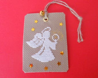 The Angel of Christmas and his Bell embroidered label