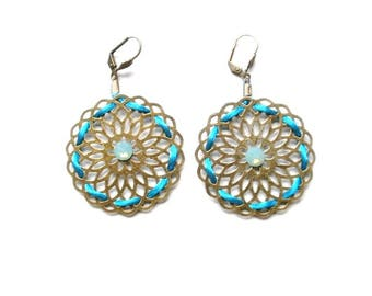 CHEAP discontinued - Earrings NAVAJO antiqued brass