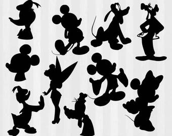 Mickey and Friends SVG, Mickey Mouse SVG, Disney SVG, svg files for Silhouette Cameo, cricut explore, Disney silhouettes, mickey svg, minnie