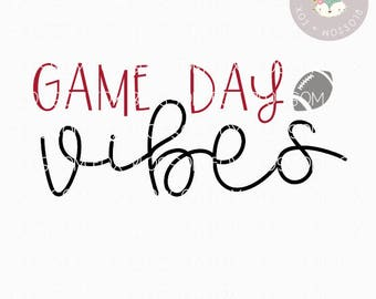 Football SVG, Game Day Vibes Svg, Game Day SVG, Tailgate, Touchdowns Football Mom, Sports svg, Friday Night Lights, Cutting File, Southern