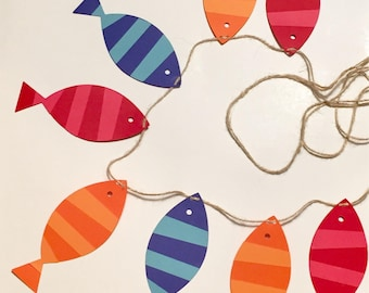 """Reversible O""""Fish""""ally One/The Big One Fishing Garland Banner"""