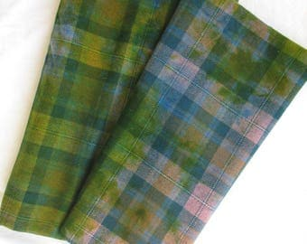 Dorr Mill Wool Plaid/Hand Dyed Fabric