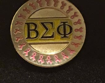 Beta Sigma Phi Breast Cancer Pin