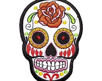 Rose Skull Art Patch W.Ch.Patch