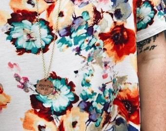 Customized Smashed Penny Necklace